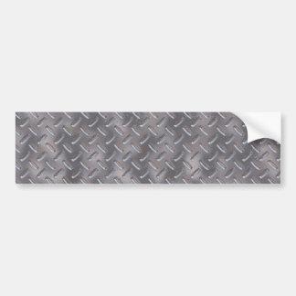Placa de acero del diamante etiqueta de parachoque