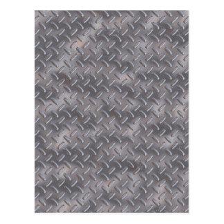 Placa de acero del diamante postales