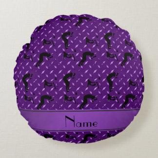 Placa de acero del diamante púrpura conocido que cojín redondo