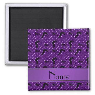 Placa de acero del diamante púrpura conocido que imán cuadrado