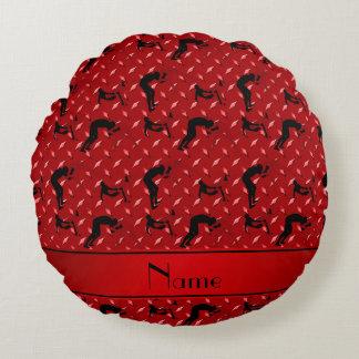 Placa de acero del diamante rojo conocido que cojín redondo