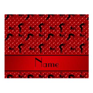 Placa de acero del diamante rojo conocido que postales