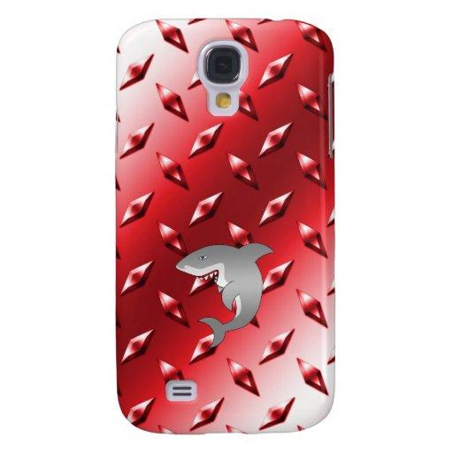 Placa de acero del diamante rojo del tiburón