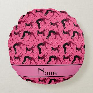 Placa de acero del diamante rosado conocido que cojín redondo