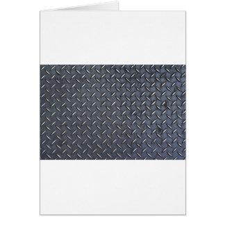 Placa de acero del diamante tarjeta de felicitación