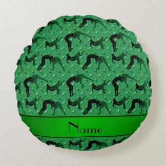 Placa de acero del diamante verde conocido que cojín redondo