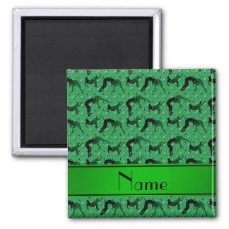 Placa de acero del diamante verde conocido que imán cuadrado