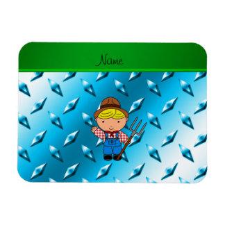 Placa de acero del granjero de cielo del diamante imán foto rectangular