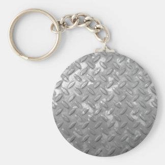 Placa de acero llavero redondo tipo pin