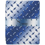Placa de acero personalizada del diamante azul cover de iPad