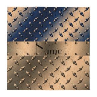 Placa de acero personalizada del diamante azul de posavasos