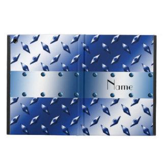 Placa de acero personalizada del diamante azul