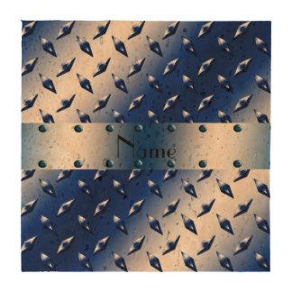 Placa de acero personalizada del diamante azul posavasos