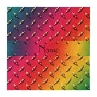 Placa de acero personalizada del diamante conocido posavasos
