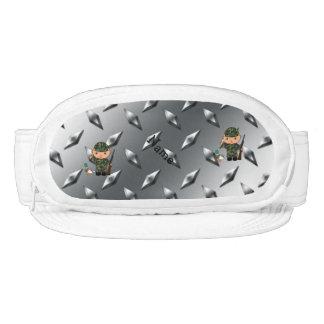 Placa de acero personalizada del pato de la plata visera
