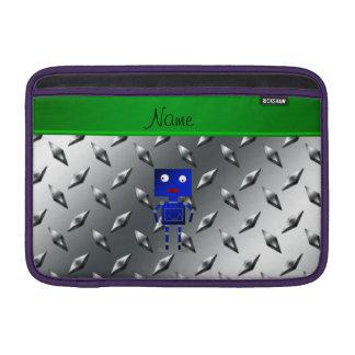 Placa de acero personalizada del robot azul fundas macbook air