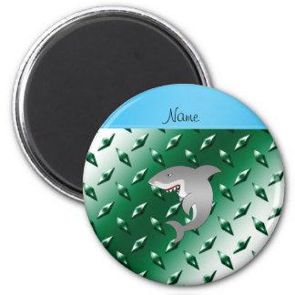 Placa de acero personalizada del tiburón del imán redondo 5 cm