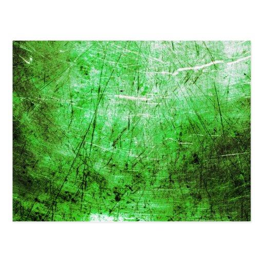 Placa de acero verde tarjetas postales