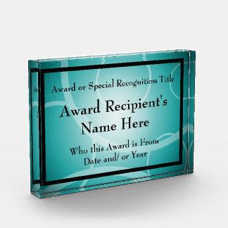 Placa de acrílico personalizada moderna del premio