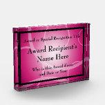 Placa de acrílico personalizada moderna rosada del