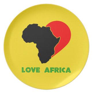 Placa de África del amor Plato Para Fiesta