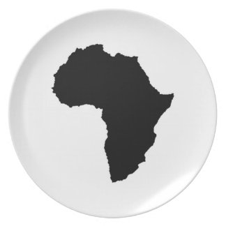 Placa de África Platos De Comidas