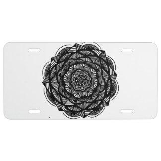 Placa de aluminio placa de matrícula