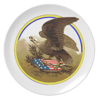 Placa de American Eagle Platos De Comidas