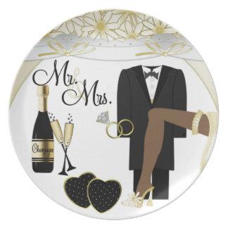 Placa de /Anniversary del boda Platos Para Fiestas