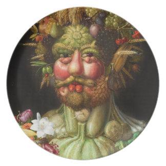 Placa de Arcimboldo Rudolf II Platos