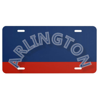 Placa de Arlington Placa De Matrícula