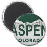 Placa de Aspen Colorado Imanes De Nevera