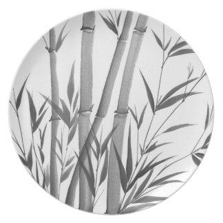 Placa de bambú platos para fiestas