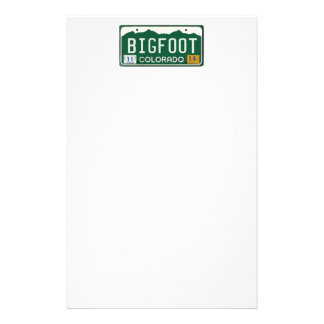 Placa de Bigfoot Colorado Papeleria De Diseño