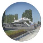 Placa de British Airways Concorde Plato De Cena
