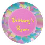Placa de Bubblegum - personalizada Platos Para Fiestas