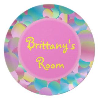 Placa de Bubblegum - personalizada Platos