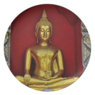 Placa de Buda del oro Platos Para Fiestas