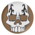Placa de Calavera (Brown) Platos De Comidas