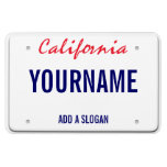 Placa de California (personalizada) Imanes Flexibles