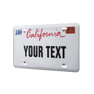 Placa de California Placa De Matrícula