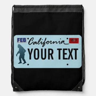 Placa de California Sasquatch Mochilas