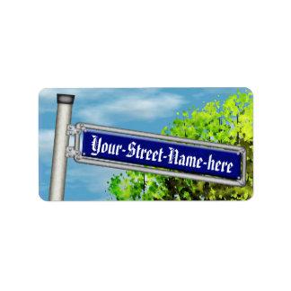 Placa de calle alemana del vintage adaptable - etiquetas de dirección