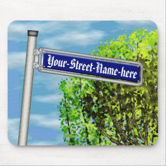 Placa de calle alemana del vintage adaptable - mousepads