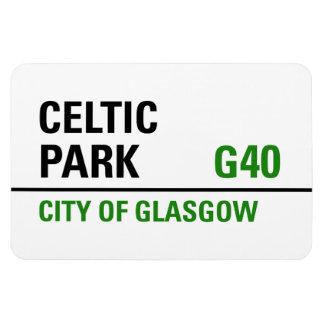 Placa de calle céltica del parque iman de vinilo
