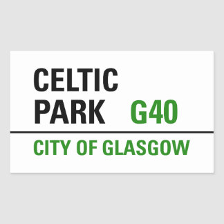 Placa de calle céltica del parque pegatina rectangular