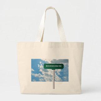 Placa de calle conocida personalizada del camino e bolsa lienzo
