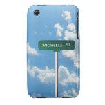 Placa de calle conocida personalizada del camino e iPhone 3 protector