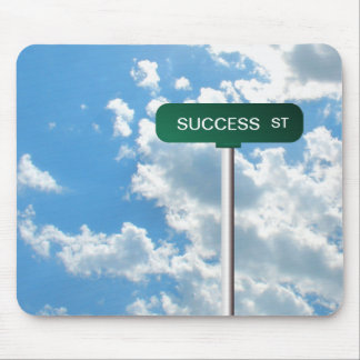 Placa de calle conocida personalizada del camino e tapete de ratones