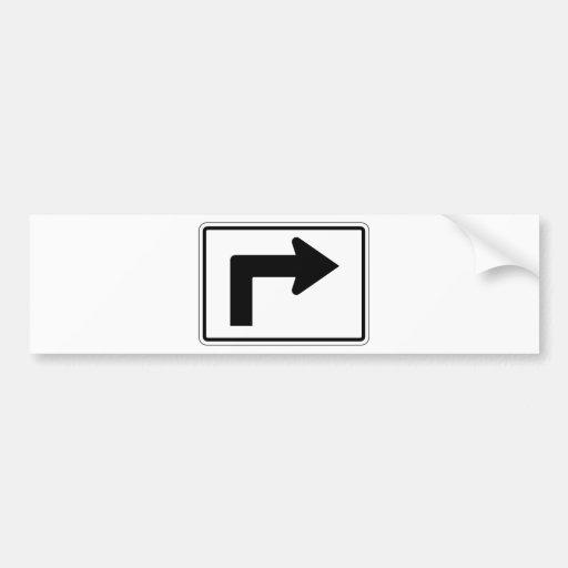 Placa de calle correcta de la flecha doblada pegatina para auto